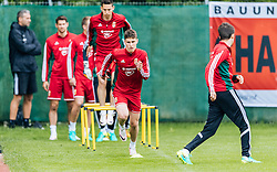 31.05.2016, Steinbergstadion, Leogang, AUT, UEFA Euro, Frankreich, Vorbereitung Ungarn, Training, im Bild Roland Sallai (HUN) // Hungarian national team player Roland Sallai during a training session at the Trainingscamp of Team Hungary for Preparation of the UEFA Euro 2016 France at the Steinbergstadion in Leogang, Austria on 2016/05/31. EXPA Pictures © 2016, PhotoCredit: EXPA/ JFK