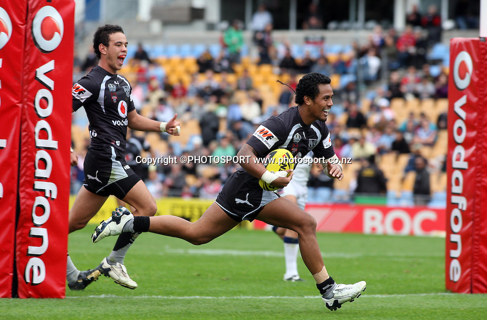 Warriors Francis Leger scores a try. Toyota Cup, rugby league, Vodafone U20 Warriors v U20 Roosters, Mt Smart Stadium, Auckland, Sunday 25 May 2008. Photo: Renee McKay/PHOTOSPORT