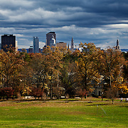 Hartford skyline seen from Elizabeth Park.