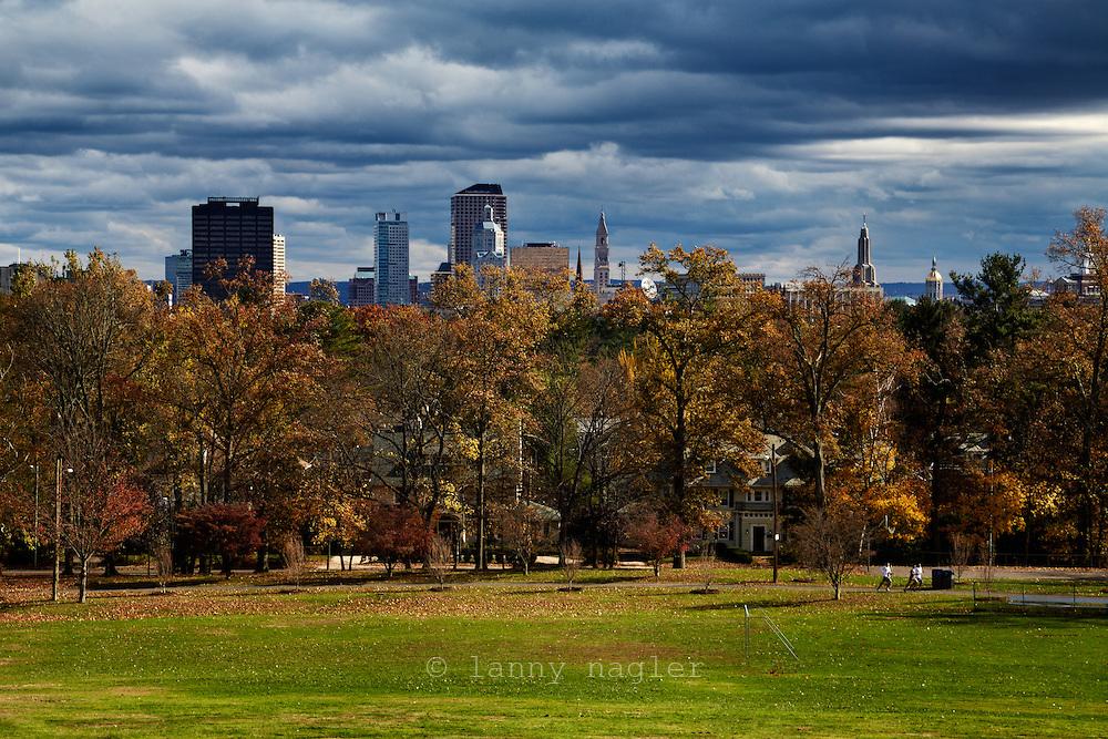 Hartford skyline seen from Elizabeth Park.