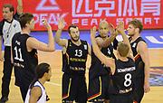 DESCRIZIONE : Lubiana Ljubliana Slovenia Eurobasket Men 2013 Preliminary Round Germania Gran Bretagna Germany Great Britain<br /> GIOCATORE : Team Germania Team Germany<br /> CATEGORIA : five high mani<br /> SQUADRA : Germania Germany<br /> EVENTO : Eurobasket Men 2013<br /> GARA : Germania Gran Bretagna Germany Great Britain<br /> DATA : 08/09/2013 <br /> SPORT : Pallacanestro <br /> AUTORE : Agenzia Ciamillo-Castoria/T.Wiedensohler<br /> Galleria : Eurobasket Men 2013<br /> Fotonotizia : Lubiana Ljubliana Slovenia Eurobasket Men 2013 Preliminary Round Germania Gran Bretagna Germany Great Britain<br /> Predefinita :