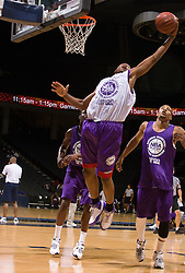 PF Wally Judge (Jacksonville, FL / Arlington Country Day) grabs a rebound.  The NBA Player's Association held their annual Top 100 basketball camp at the John Paul Jones Arena on the Grounds of the University of Virginia in Charlottesville, VA on June 20, 2008