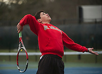 St Paul's School varsity boys tennis.  Karen Bobotas Photographer