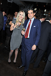 OLGA GERASIMOVA and ARNAUD CORBIN at a party to celebrate the launch of Pomp magazine - a magazine representing London Luxury without the Ceremony focusing on the luxury, fashion and culture of the Capital, hosted by Tom Parker Bowles and the Directors of Pomp Magazine held at The Cuckoo Club, Swallow Street, London on 17th November 2011.