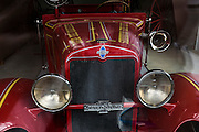 Vintage firetruck on display at the local firehouse, Silverton, Colorado.