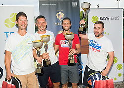 Trophy ceremony after the Tennis tournament for amateurs organised by Tenis Slovenija,  on June 24, 2017 in Tivoli, Ljubljana, Slovenia. Photo by Vid Ponikvar / Sportida