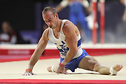 Julien Gobaux (France) team bronze medal at the floor competition during the presentation of the teams during the European Championships Glasgow 2018, Team Men Final at The SSE Hydro in Glasgow, Great Britain, Day 10, on August 11, 2018 - Photo Laurent Lairys / ProSportsImages / DPPI