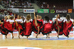 September 17, 2018 - Gdansk, Poland - Cheerleaders performing during the half-time are seen in Gdansk, Poland on 17 September 2018  Poland faces Croatia during the Basketball World Cup China 2019 Qualifiers game in the ERGO Arena sports hall in Gdansk  (Credit Image: © Michal Fludra/NurPhoto/ZUMA Press)