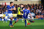 Burton Albion's Matthew Lund goes past Ipswich Town's Adam Webster during the EFL Sky Bet Championship match between Burton Albion and Ipswich Town at the Pirelli Stadium, Burton upon Trent, England on 28 October 2017. Photo by John Potts.
