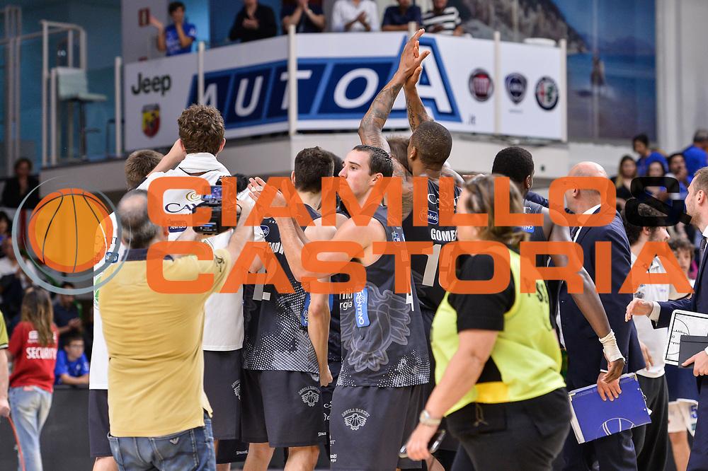 Team Dolomiti Energia Aquila Basket Trento<br /> Banco di Sardegna Dinamo Sassari - Dolomiti Energia Aquila Basket Trento<br /> Legabasket Serie A LBA Poste Mobile 2016/2017<br /> Playoff Quarti Gara3<br /> Sassari 16/05/2017<br /> Foto Ciamillo-Castoria
