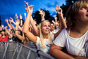 Mainz | 07.08.2010..Summer Music Festival of RPR 1 Radio Station in the german city of Mainz (Rhineland-Palatinate), picture shows young women in the audience having a good time...RPR 1 Rheinland-Pfalz Open Air 2010 in Mainz, hier: Junge Frauen im Publikum...©peter-juelich.com..[No Model Release | No Property Release]
