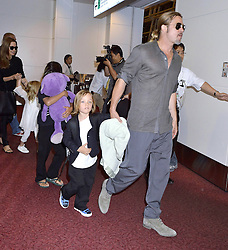 60232379<br /> Brad Pitt and Angelina Jolie with their children Pax Knox and Vivienne at Tokyo International Airport Arrival, Tokyo, Japan.<br /> Sunday, 28th July 2013<br /> Picture by imago / i-Images<br /> UK ONLY