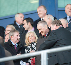 Hibernian's manager Terry Butcher at the game.<br /> Falkirk 1 v 1 Hamilton, Scottish Premiership play-off semi-final first leg, played 13/5/2014 at the Falkirk Stadium.
