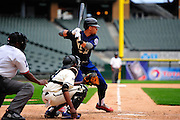 Homewood-Flossmoor's Percy Walters bats for the West All-Stars for the 8th Annual Double Duty Classic at U.S. Cellular Filed, July 1st, 2015, in Chicago. (Gary Middendorf-Daily Southtown)