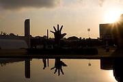 Sao Paulo_SP, Brasil...Memorial da America Latina, no bairro da Barra Funda em Sao Paulo. O memorial foi projetado pelo Oscar Niemeyer...The (Memorial da América Latina) Latin America Memorial, at Barra Funda neighborhood in Sao Paulo. The memorial was projected by Oscar Niemeyer...Foto: MARCUS DESIMONI / NITRO