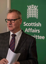 Pictured: Pete Wishart<br /> <br /> Today at the Crew 2000 offices in Edinburgh, the chair of the Scottish Affairs Committee Pete Wishart MP launched an inquiry into drug misuse in Scotland.  He was joined by members of his committee, Tommy Shephard (SNP), Danielle Rowley MP (Labour) and Christine Jardine (Lib Dem)<br /> <br /> <br /> Ger Harley | EEm 4 March 2019