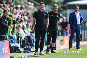 Forest Green Rovers manager, Mark Cooper during the EFL Sky Bet League 2 match between Forest Green Rovers and Swindon Town at the New Lawn, Forest Green, United Kingdom on 25 August 2018.