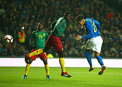 November 20, 2018 - Milton Keynes, United Kingdom - Roberto Firmino of Brazil  scores.during Chevrolet Brazil Global Tour International Friendly between Brazil and Cameroon at Stadiummk stadium , MK Dons Football Club, England on 20 Nov 2018. (Credit Image: © Action Foto Sport/NurPhoto via ZUMA Press)