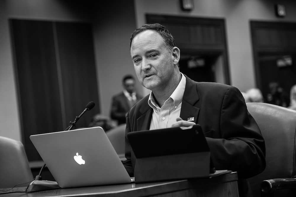 Brigham McCown, a former U.S. pipeline safety chief and now chairman of the Alliance for Innovation and Infrastructure testifying at the Bayou Bridge pipeline hearing in Baton Rouge.