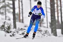 Biathlete, UKR at the 2018 ParaNordic World Cup Vuokatti in Finland