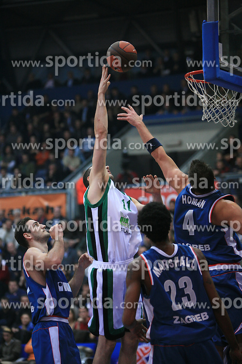 Andrea Crosariol (11) at Euroleague match between KK Cibona and Air Avellino, on November 26, 2008, in Cibona Tower, Zagreb, Croatia. Match was won by Cibona 82:79. (Photo by Vid Ponikvar / Sportida)