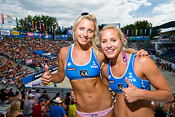 Erika and Simona Fabjan at A1 Beach Volleyball Grand Slam tournament of Swatch FIVB World Tour 2010, on July 28, 2010 in Klagenfurt, Austria. (Photo by Matic Klansek Velej / Sportida)