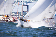 Tiger Maru sailing in the Museum of Yachting Classic Yacht Regatta.