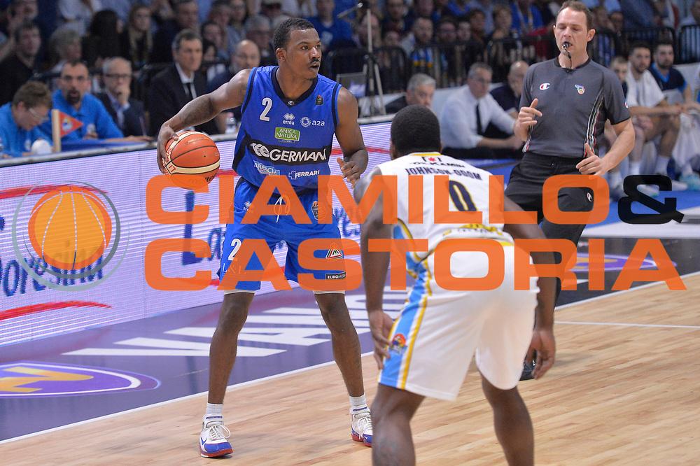 Lee Moore<br /> Vanoli Cremona - Germani Basket Brescia Leonessa<br /> Lega Basket Serie A 2016/2017<br /> Cremona, 09/04/2017<br /> Foto M.Ceretti / Ciamillo - Castoria