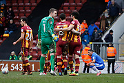 Bradford players celebrate at full time during the EFL Sky Bet League 1 match between Bradford City and Gillingham at the Northern Commercials Stadium, Bradford, England on 24 March 2018. Picture by Paul Thompson.