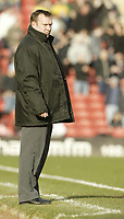 Photo: Aidan Ellis.<br /> Barnsley v Norwich City. Coca Cola Championship. 03/03/2007.<br /> Barnsley's manager looks concerned as his side go three goals down