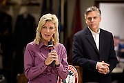 Mary Kaye Huntsman introduces her husband Republican presidential candidate Gov. Jon Huntsman to republican supporters at a breakfast event on December 3, 2011 in Goose Creek, South Carolina.