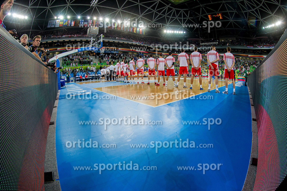 Players of Croatia during basketball match between National teams of Lithuania and Croatia in Semifinals at Day 17 of Eurobasket 2013 on September 20, 2013 in Arena Stozice, Ljubljana, Slovenia. (Photo by Vid Ponikvar / Sportida.com)