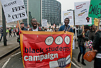 """Black students marching against student cuts at """"March for the Alternative"""" 2011"""