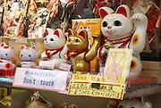 Japan, Tokyo, Asakusa, Kannon temple, Maneki-neko Beckoning Cats