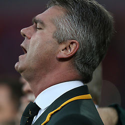 PORT ELIZABETH, SOUTH AFRICA - JUNE 28: Heyneke Meyer (Head Coach) of South Africa during the Incoming Tour match between South Africa and Scotland at Nelson Mandela Bay Stadium on June 28, 2014 in Port Elizabeth, South Africa. (Photo by Steve Haag/Gallo Images)