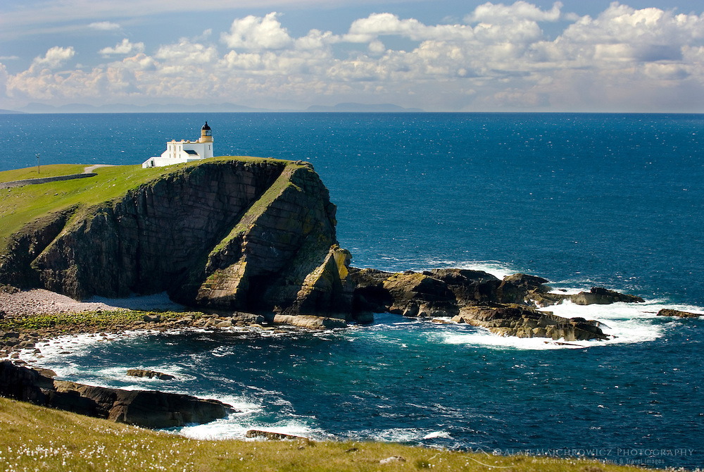 Rhu Stoer Lighthouse at Point of Stoer, Assynt-Coigach Scenic Area Scotland