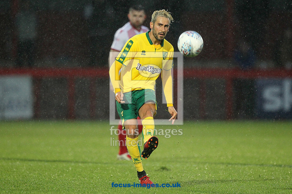 Mario Vrancic of Norwich in action during the Pre-season Friendly match at the Lamex Stadium, Stevenage<br /> Picture by Paul Chesterton/Focus Images Ltd +44 7904 640267<br /> 11/07/2017