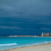 Cancun beach before a storm. Quintana Roo, Mexico.