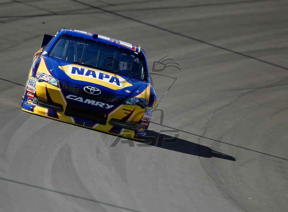 LAS VEGAS, NV - MAR 09, 2012:  Martin Truex, Jr. (56) practices for the Kobalt Tools 400 race at the Las Vegas Motor Speedway in Las Vegas, NV.
