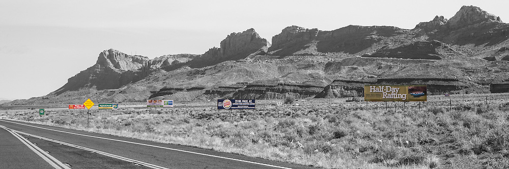 Billboards on Highway 89 before the Page turnoff.