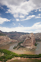 Echo Park, which is where the confluence of the Green and Yampa Rivers. These two rivers flow through Dinosaur National Monument in northeastern Utah.
