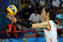 China Zhu Ting serves