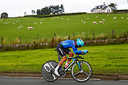 Time Trial Men 45,7 km, Moreno Moser (Italy) during the Road Cycling European Championships Glasgow 2018, in Glasgow City Centre and metropolitan areas Great Britain, Day 7, on August 8, 2018 - photo Luca Bettini / BettiniPhoto / ProSportsImages / DPPI<br /> - restriction - Netherlands out, Belgium out, Spain out, Italy out