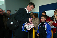 Fotball<br /> UEFA Champions League 2003/2004<br /> Foto: Digitalsport<br /> Norway Only<br /> <br /> OOSTENDE 23/10/2003<br /><br /> CLUB BRUGGE / FC BRUGES / BRÜGGE<br /> RETOUR DE MILAN<br /> TERUG VAN MILAAN<br /> TROND SOLLIED<br /> PICTURE BY JIMMY BOLCINA
