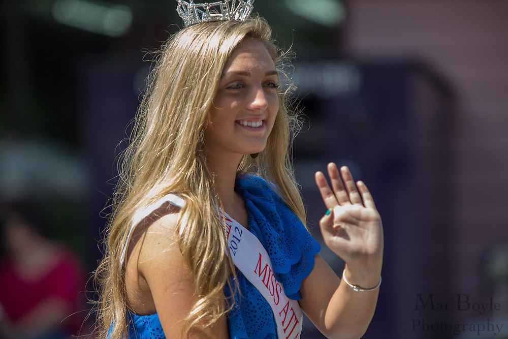 Miss Atlantic Shores Outstanding Teen Mackenzie Olsen Magill in the Pitman 4th of July Parade at Broadway in Pitman, NJ on Thursday July 4, 2013. (photo / Mat Boyle)