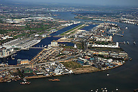 London City Airport (IATA: LCY, ICAO: EGLC) is an airport in London. It is located on a former Docklands site in the London Borough of Newham, some 6 NM (11 km; 6.9 mi) east of the City of London and a rather smaller distance east of Canary Wharf. These are the twin centres of London's financial industry, which is a major user of the airport.