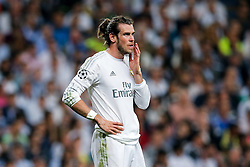 Gareth Bale of Real Madrid looks on - Mandatory byline: Rogan Thomson/JMP - 04/05/2016 - FOOTBALL - Santiago Bernabeu Stadium - Madrid, Spain - Real Madrid v Manchester City - UEFA Champions League Semi Finals: Second Leg.