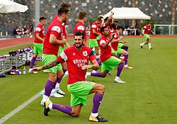 Eros Pisano of Bristol City warms up with team mates - Mandatory by-line: Matt McNulty/JMP - 22/07/2017 - FOOTBALL - Tenerife Top Training - Costa Adeje, Tenerife - Bristol City v Atletico Union Guimar  - Pre-Season Friendly