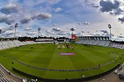 The scene during pre-match warm up before the NatWest T20 Blast Quarter Final match between Notts Outlaws and Somerset County Cricket Club at Trent Bridge, West Bridgford, United Kingdom on 24 August 2017. Photo by Simon Trafford.