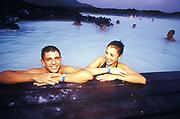 Couple bathing, Blue Lagoon, Iceland Airwaves Festival, Reykjavik, 2000's